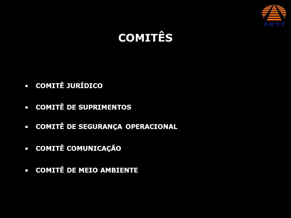 COMITÊ JURÍDICO COMITÊS COMITÊ DE SUPRIMENTOS COMITÊ DE SEGURANÇA OPERACIONAL COMITÊ COMUNICAÇÃO COMITÊ DE MEIO AMBIENTE