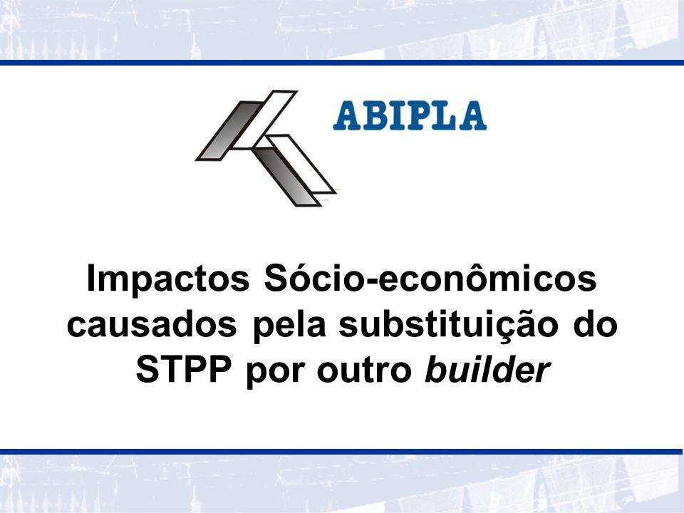 Impactos Sócio-econômicos causados pela substituição do STPP por outro builder