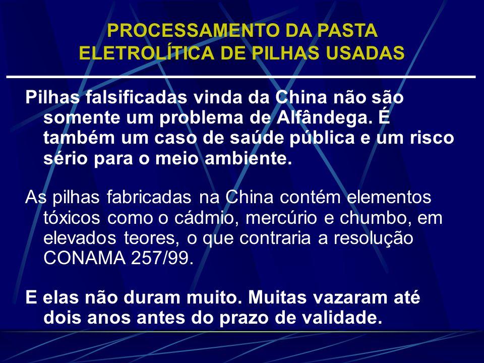 Pilhas falsificadas vinda da China não são somente um problema de Alfândega. É também um caso de saúde pública e um risco sério para o meio ambiente.
