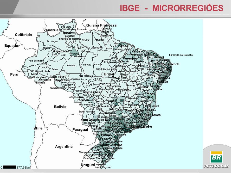IBGE – MESORREGIÕES c/maior Densidade Demográfica 1METROPOL.