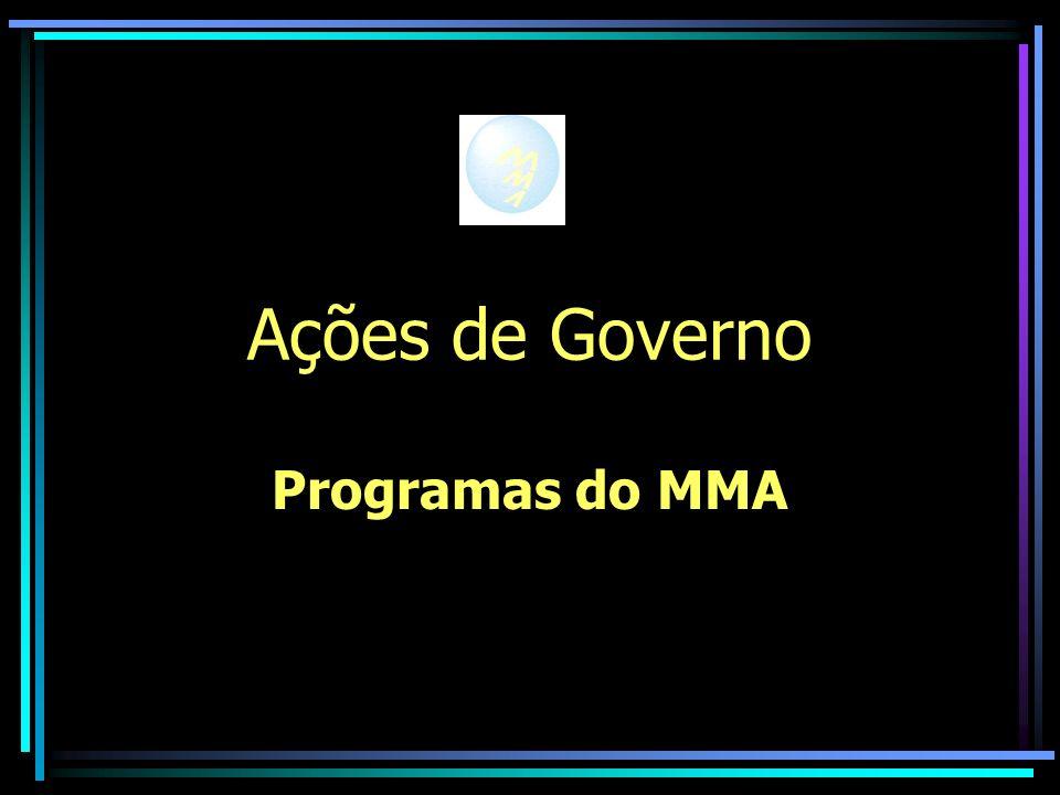 Ações de Governo Programas do MMA
