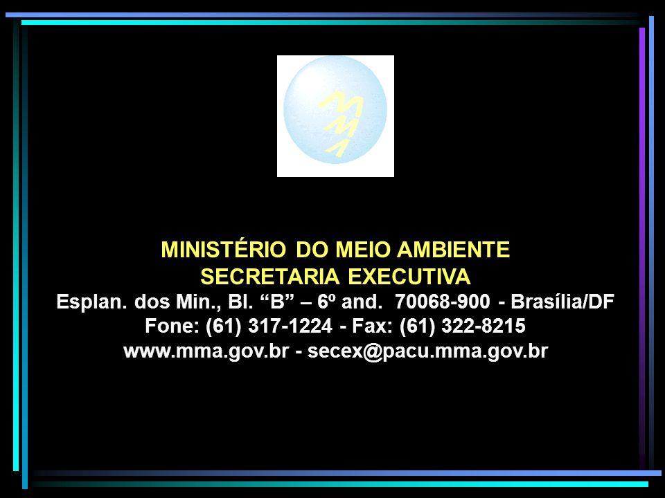 MINISTÉRIO DO MEIO AMBIENTE SECRETARIA EXECUTIVA Esplan.