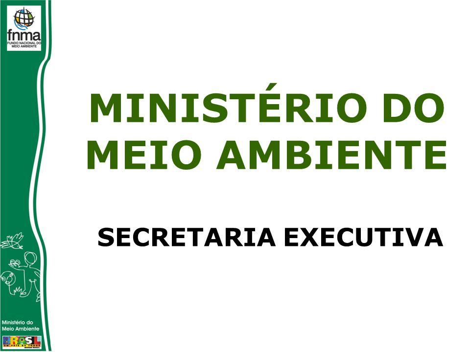 SECRETARIA EXECUTIVA MINISTÉRIO DO MEIO AMBIENTE