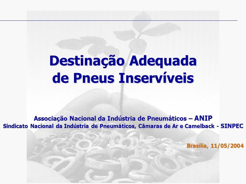 Destinação Adequada de Pneus Inservíveis Associação Nacional da Indústria de Pneumáticos – ANIP Sindicato Nacional da Indústria de Pneumáticos, Câmara