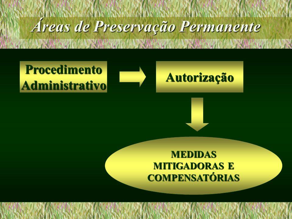 Áreas de Preservação Permanente Autorização MEDIDAS MITIGADORAS E COMPENSATÓRIAS ProcedimentoAdministrativo