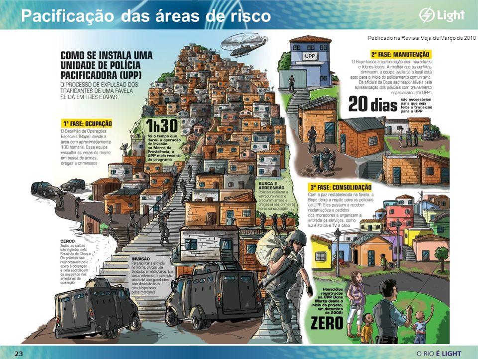 23 Pacificação das áreas de risco 23 Publicado na Revista Veja de Março de 2010