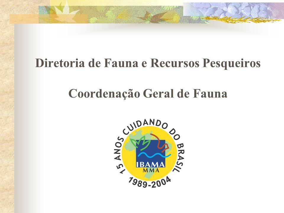 Diretoria de Fauna e Recursos Pesqueiros Coordenação Geral de Fauna
