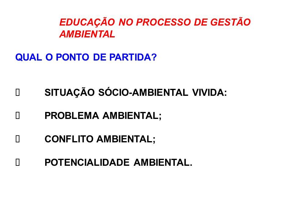EDUCAÇÃO NO PROCESSO DE GESTÃO AMBIENTAL COM QUEM FAZEMOS.