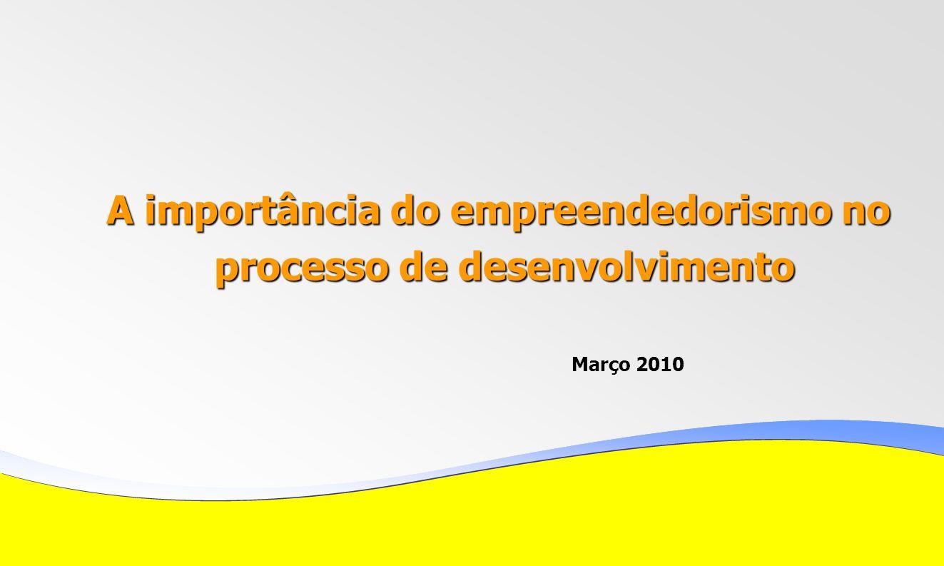 A importância do empreendedorismo no processo de desenvolvimento processo de desenvolvimento Março 2010