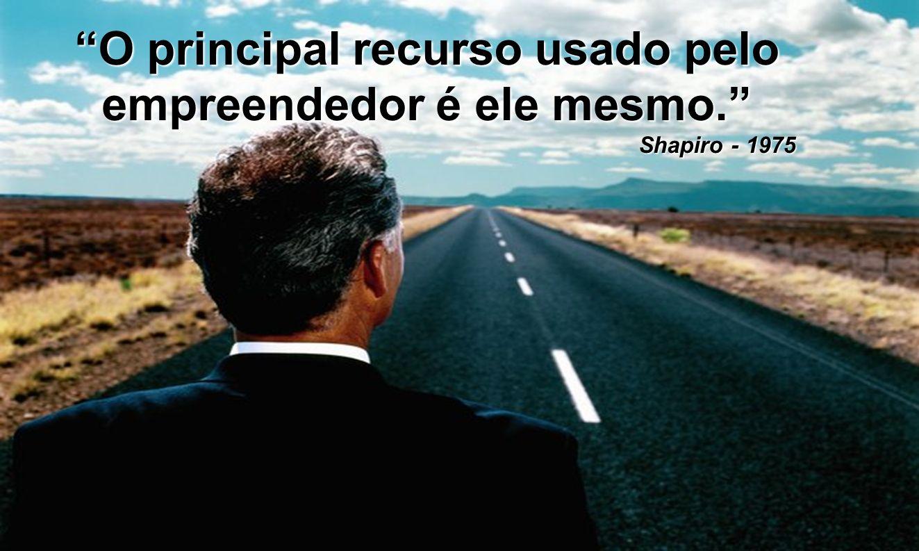 O principal recurso usado pelo empreendedor é ele mesmo. Shapiro - 1975 Shapiro - 1975