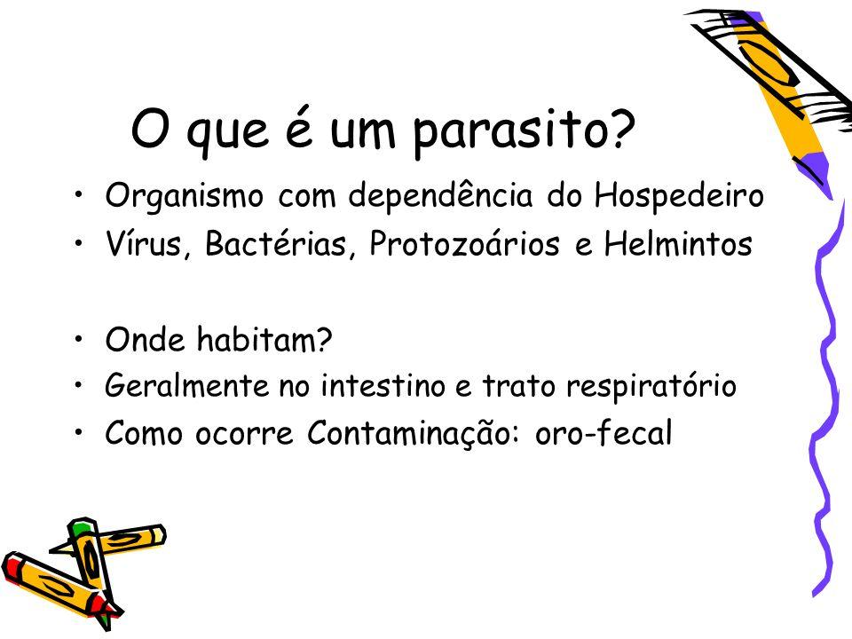 Percentuais de positividade dos principais nematódeos na população do Paraná em relação a do Brasil, comparados ao total de parasitos assinalados