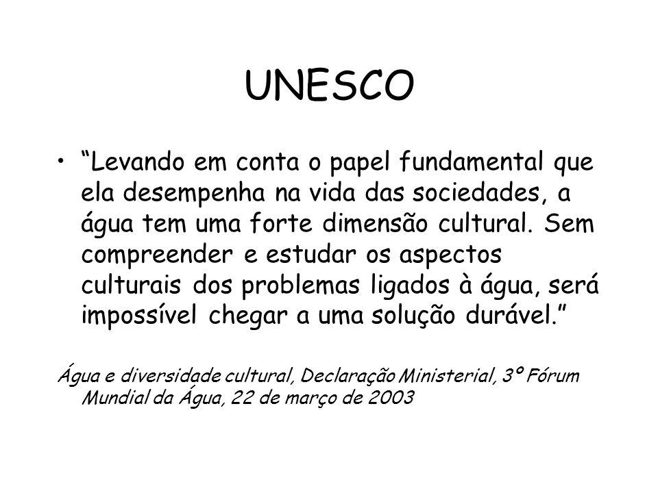 Objetivos promover a inserção da dimensão cultural em projetos, atividades e eventos durante 2006, o ano da água e da cultura e no contexto da Década Brasileira da Água – 2005-2015.