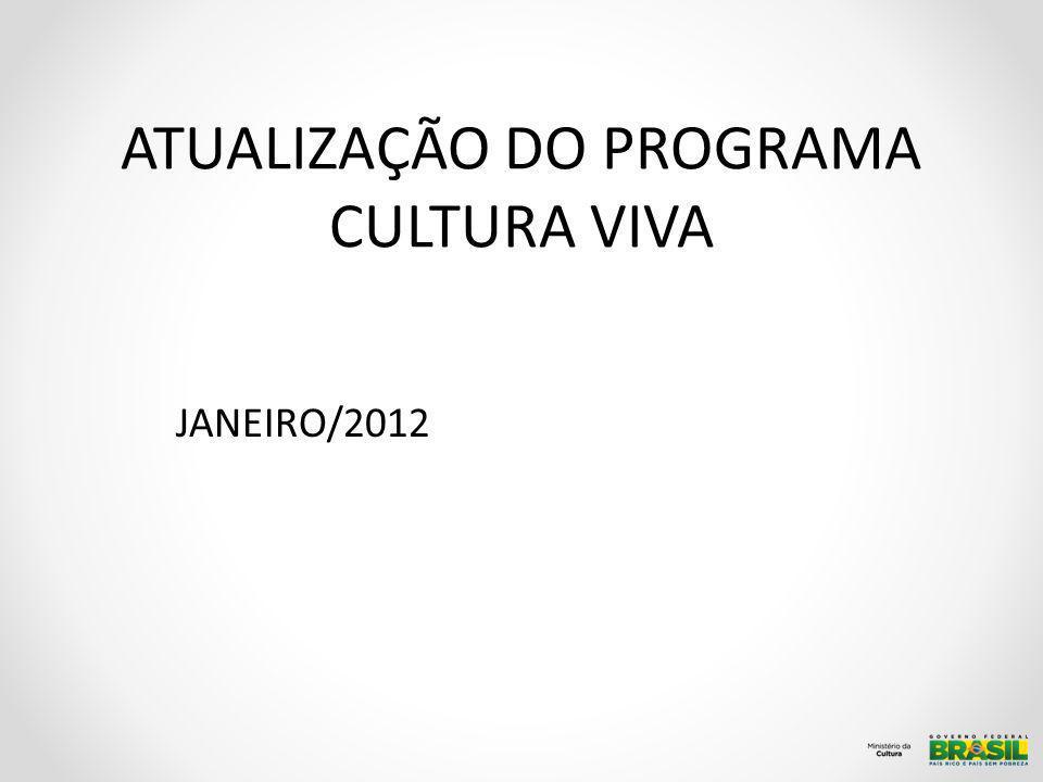 ATUALIZAÇÃO DO PROGRAMA CULTURA VIVA JANEIRO/2012