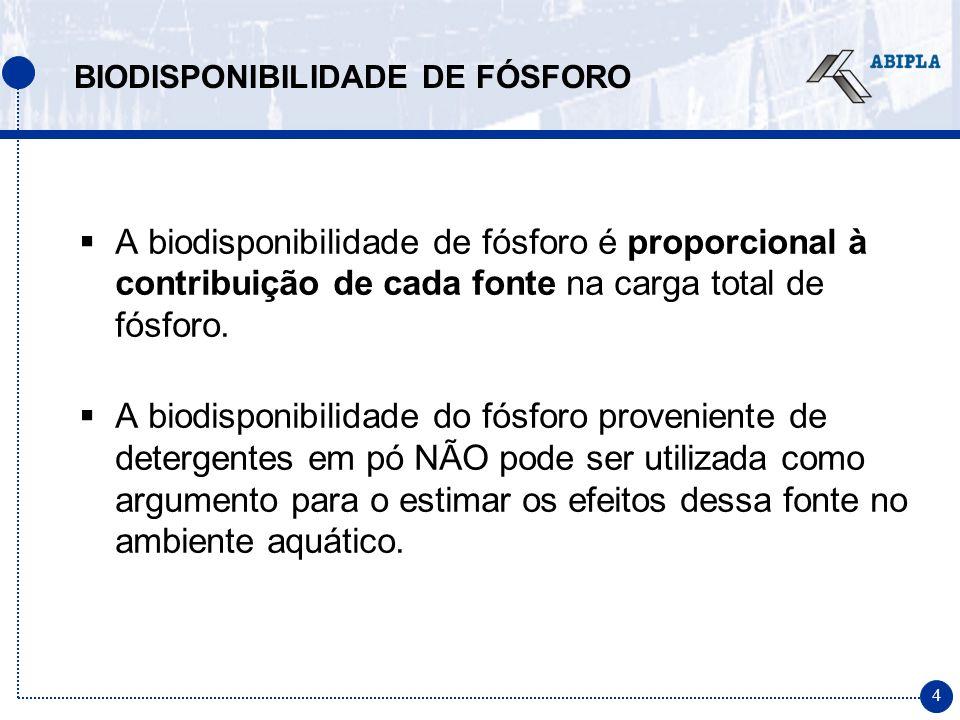 25 CONSIDERAÇÕES FINAIS Para o entendimento completo dos impactos ambientais de uma redução de fósforo em detergentes é necessário considerar ainda os aspectos sócio- econômicos envolvidos e os impactos ambientais dos detergentes com substitutos ao STPP