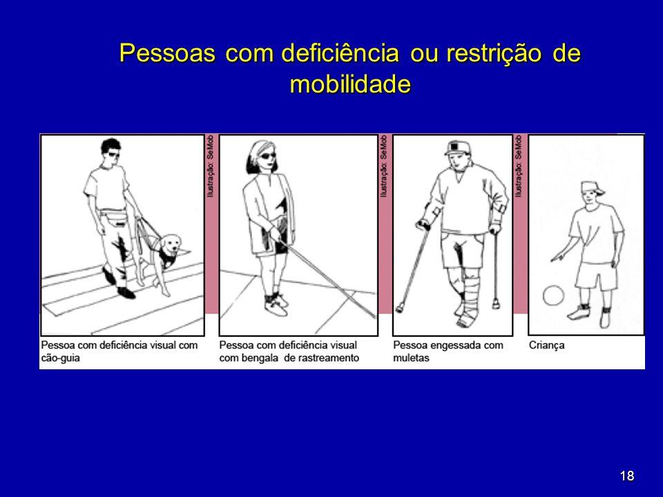 18 Pessoas com deficiência ou restrição de mobilidade