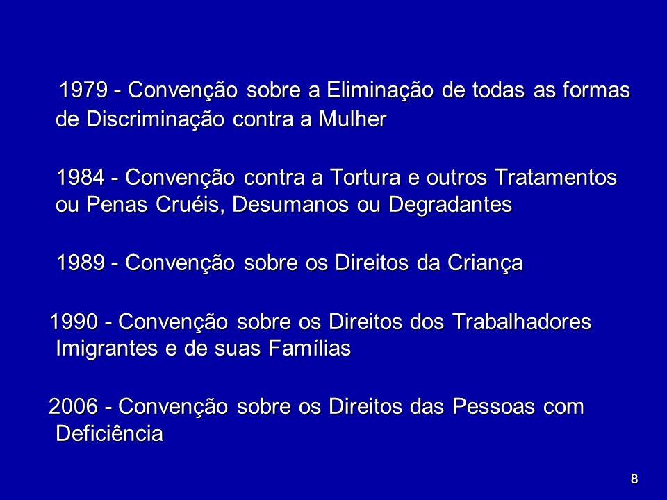 8 1979 - Convenção sobre a Eliminação de todas as formas de Discriminação contra a Mulher 1979 - Convenção sobre a Eliminação de todas as formas de Di