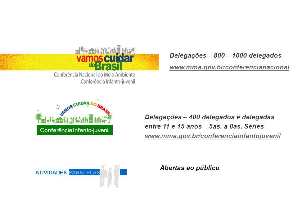 Mobilizar, identificar e formar uma nova geração de jovens engajada em políticas ambientais; Gerar um documento com diretrizes para um Brasil sustentável; Incentivar a criação de uma Rede Juventude pela Sustentabilidade.