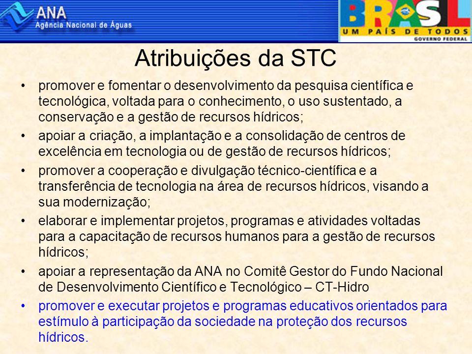 Fundamentos da ação da STC em capacitação e educação ambiental A gestão dos recursos hídricos deve ser descentralizada e contar com a participação do poder público, dos usuários e da comunidade.