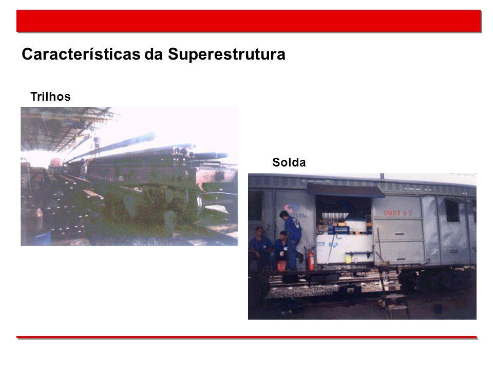 Características da Superestrutura Trilhos Solda
