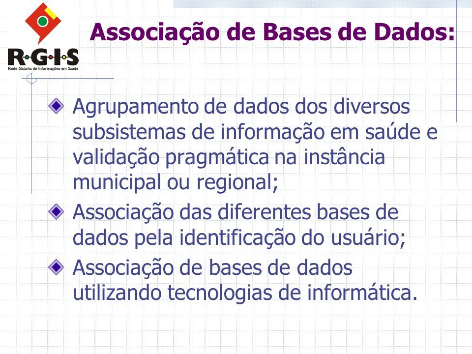 Associação de Bases de Dados: Agrupamento de dados dos diversos subsistemas de informação em saúde e validação pragmática na instância municipal ou re
