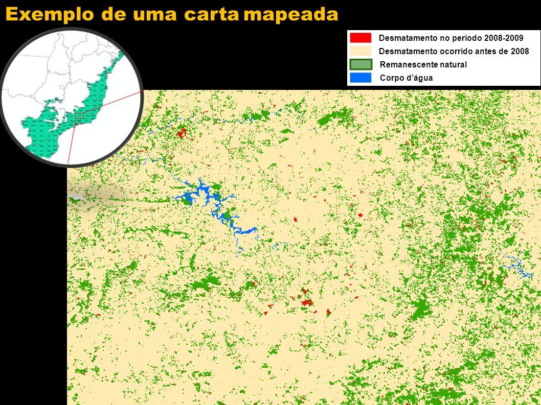 Desmatamento no Bioma Mata Atlântica ÁREA DESMATADA: 248 km 2 (2008-2009)