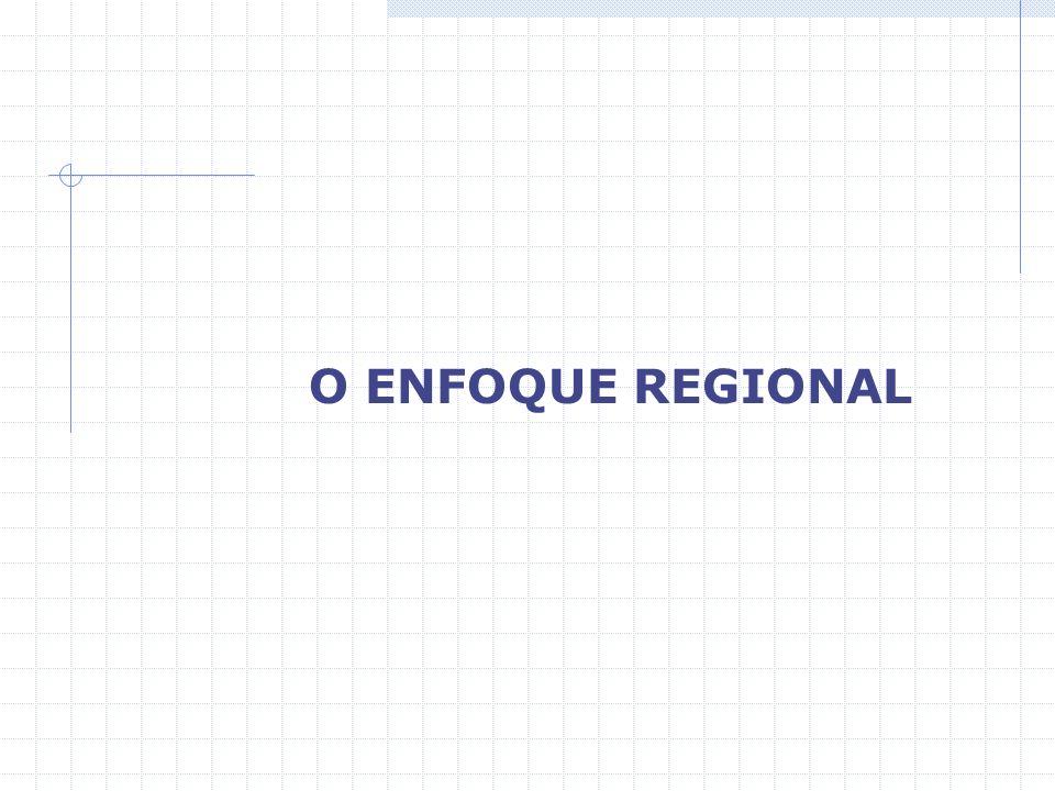 O ENFOQUE REGIONAL