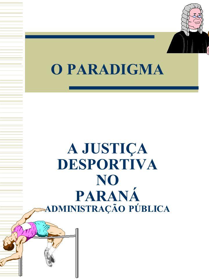 O PARADIGMA A JUSTIÇA DESPORTIVA NO PARANÁ ADMINISTRAÇÃO PÚBLICA