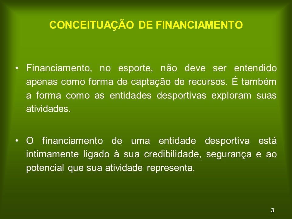 3 Financiamento, no esporte, não deve ser entendido apenas como forma de captação de recursos.