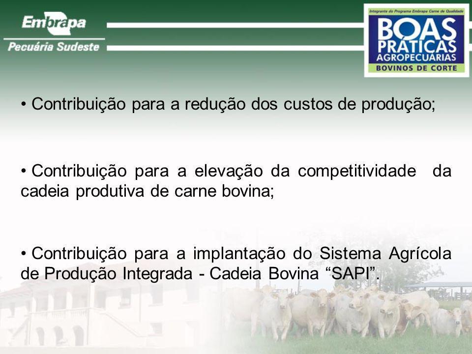Elaboração e utilização da cartilha de Boas Práticas Agropecuárias; Elaboração de publicações técnicas para divulgar as Boas Práticas; Contribuição pa