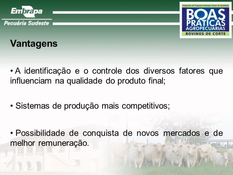 Importância O comércio Nacional e Internacional de carnes requer dos seus fornecedores a implantação de processos de controle de qualidade, para certi