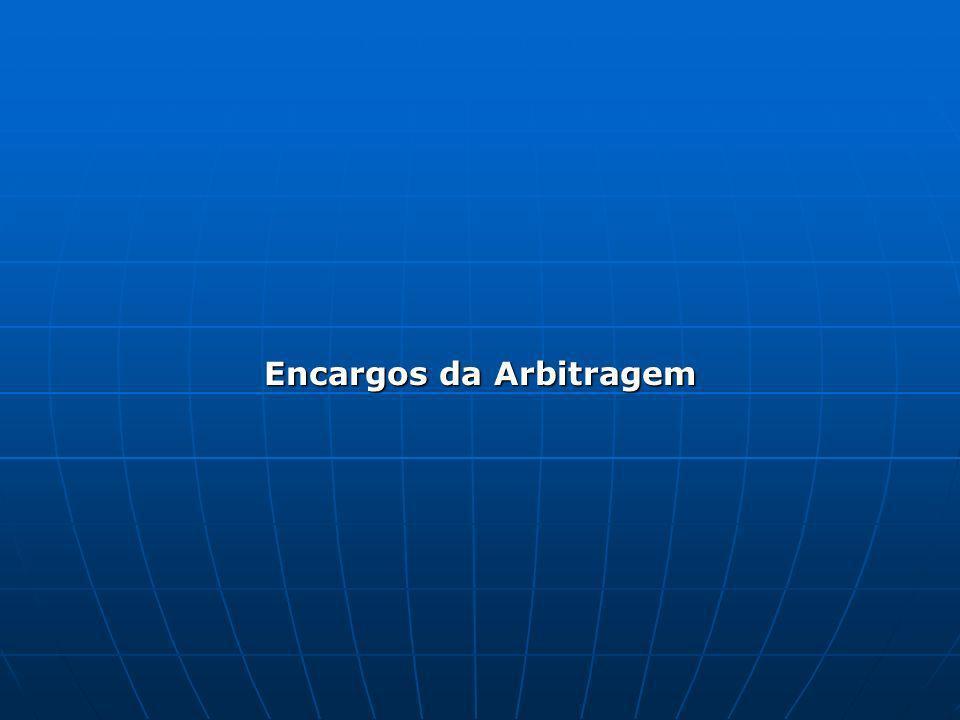 Encargos da Arbitragem