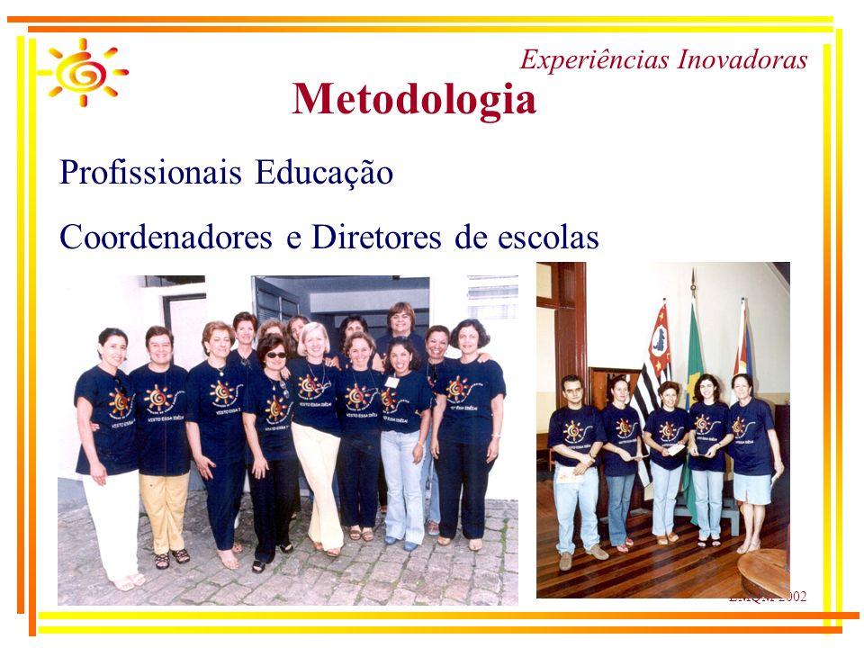 LMQM-2002 Experiências Inovadoras Metodologia Profissionais Educação Coordenadores e Diretores de escolas
