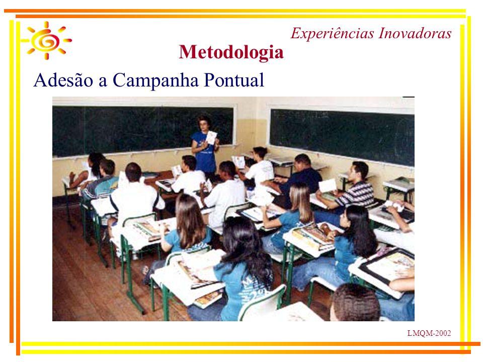 LMQM-2002 Experiências Inovadoras Metodologia Adesão a Campanha Pontual