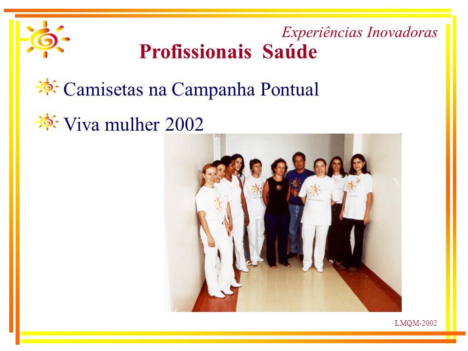 LMQM-2002 Experiências Inovadoras Profissionais Saúde Camisetas na Campanha Pontual Viva mulher 2002