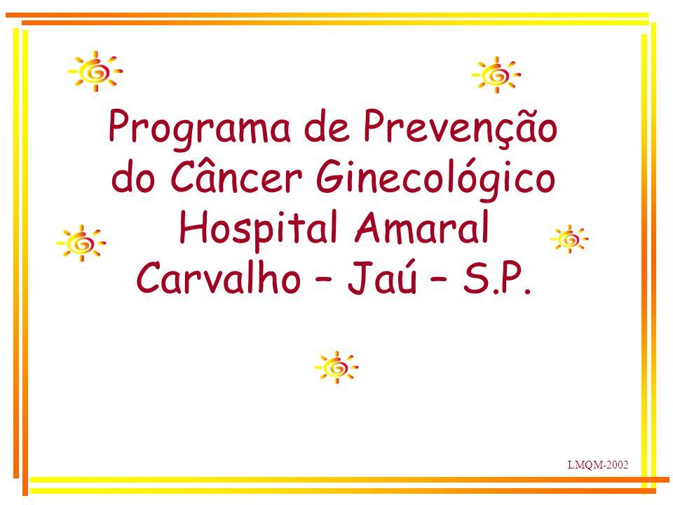 LMQM-2002 Programa de Prevenção do Câncer Ginecológico Hospital Amaral Carvalho – Jaú – S.P.