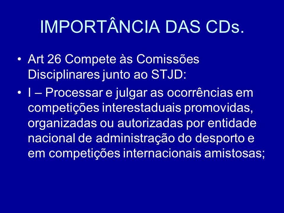 IMPORTÂNCIA DAS CDs.