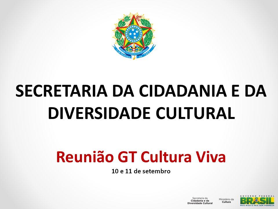 Propositivas Avaliação da Lei Cultura Viva a partir das discussões do Redesenho; Implementação dos 79 Pontos de Cultura Indígena; Finalização da elaboração do Edital de Culturas Populares; Iniciada a reavaliação dos acordos com os Estados e Municípios para reposicionamento do Programa Cultura Viva dentro do Mais Cultura.