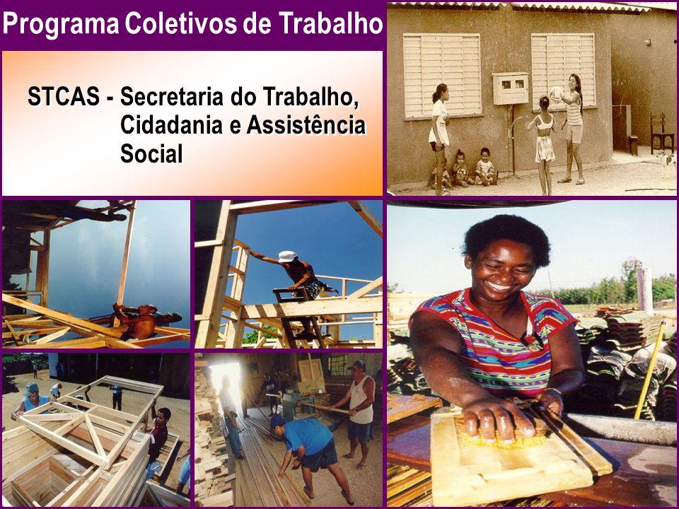 STCAS -Secretaria do Trabalho, Cidadania e Assistência Social STCAS -Secretaria do Trabalho, Cidadania e Assistência Social Programa Coletivos de Trabalho