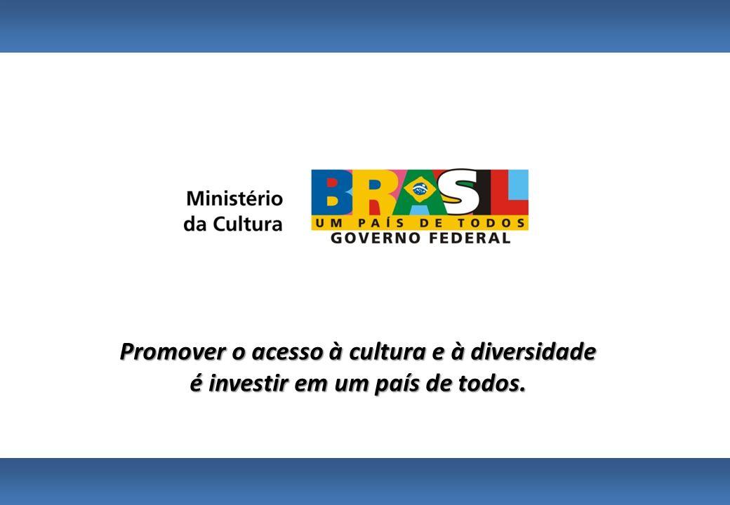 Promover o acesso à cultura e à diversidade é investir em um país de todos.