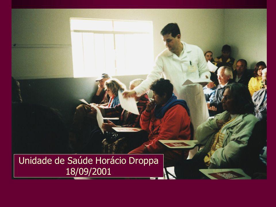 Unidade de Saúde Horácio Droppa 18/09/2001