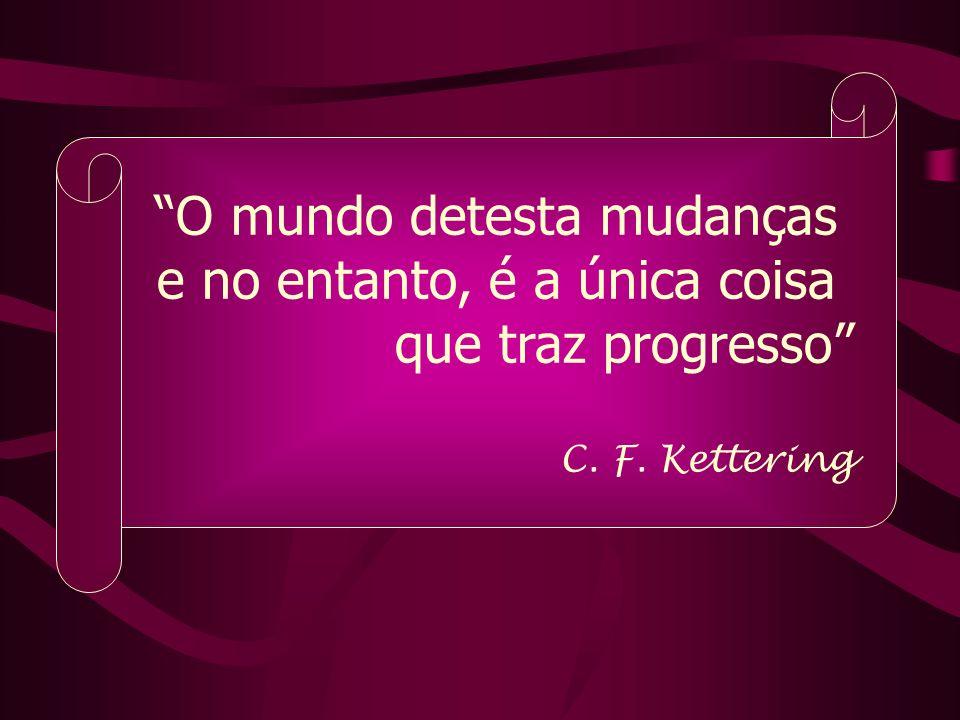 O mundo detesta mudanças e no entanto, é a única coisa que traz progresso C. F. Kettering