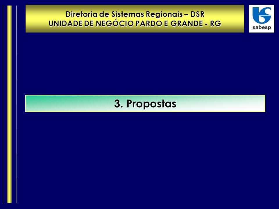 Diretoria de Sistemas Regionais – DSR UNIDADE DE NEGÓCIO PARDO E GRANDE - RG 3. Propostas