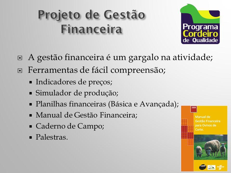 A gestão financeira é um gargalo na atividade; Ferramentas de fácil compreensão; Indicadores de preços; Simulador de produção; Planilhas financeiras (Básica e Avançada); Manual de Gestão Financeira; Caderno de Campo; Palestras.