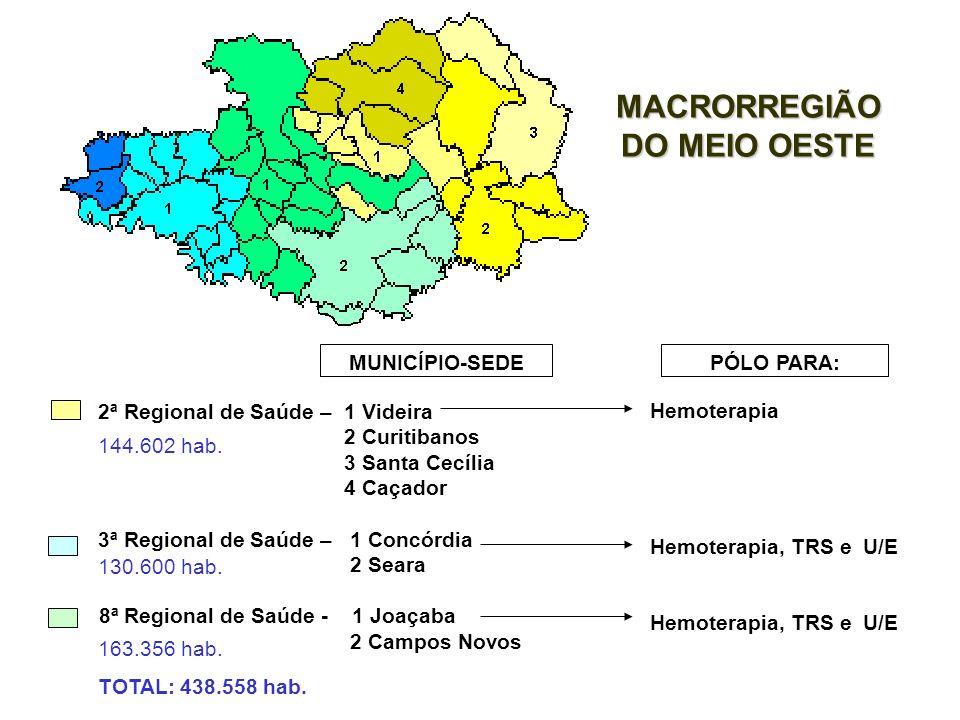 11ª Regional de Saúde – 1 Mafra 2 Itaiópolis 16ª Regional de Saúde – 1 Canoinhas 2 Porto União MUNICÍPIO-SEDE MACRORREGIÃO DO PLANALTO NORTE PÓLO PARA