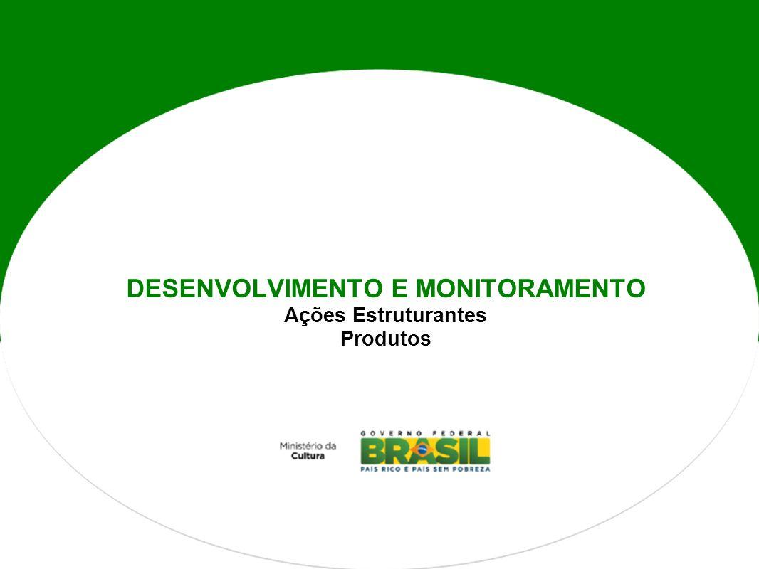 DESENVOLVIMENTO E MONITORAMENTO Ações Estruturantes Produtos