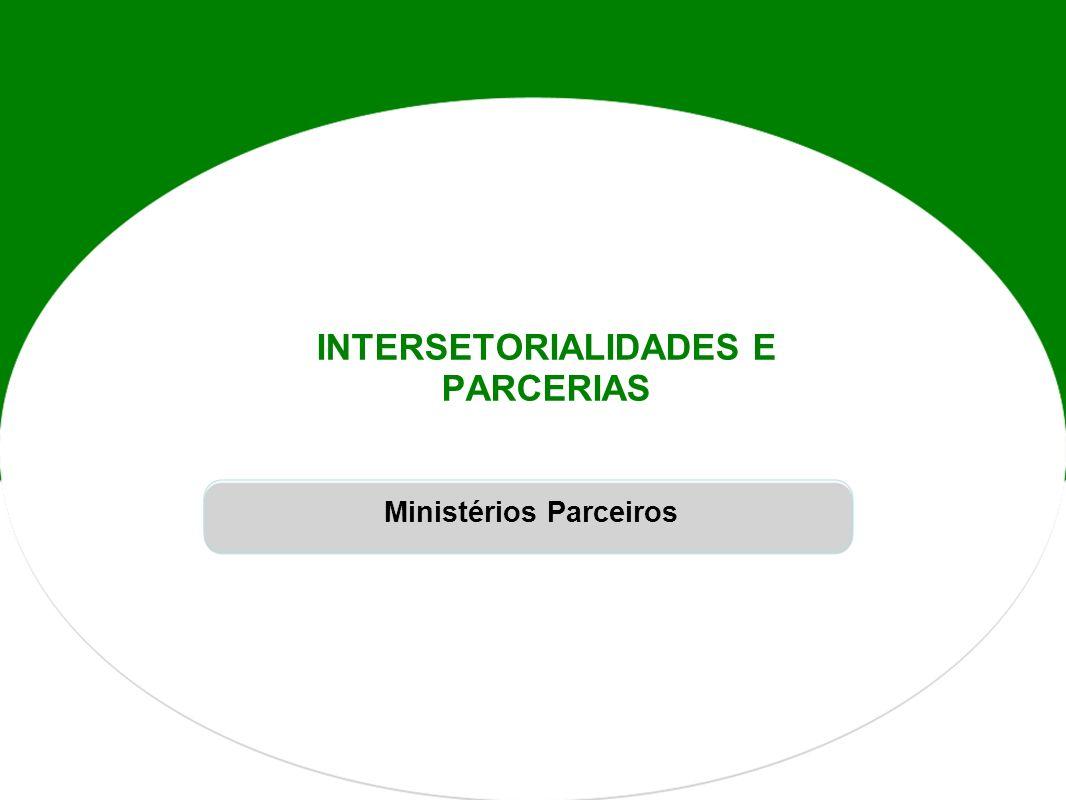 INTERSETORIALIDADES E PARCERIAS Ministérios Parceiros