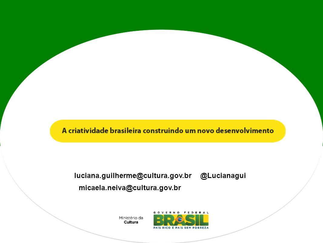 luciana.guilherme@cultura.gov.br micaela.neiva@cultura.gov.br @Lucianagui