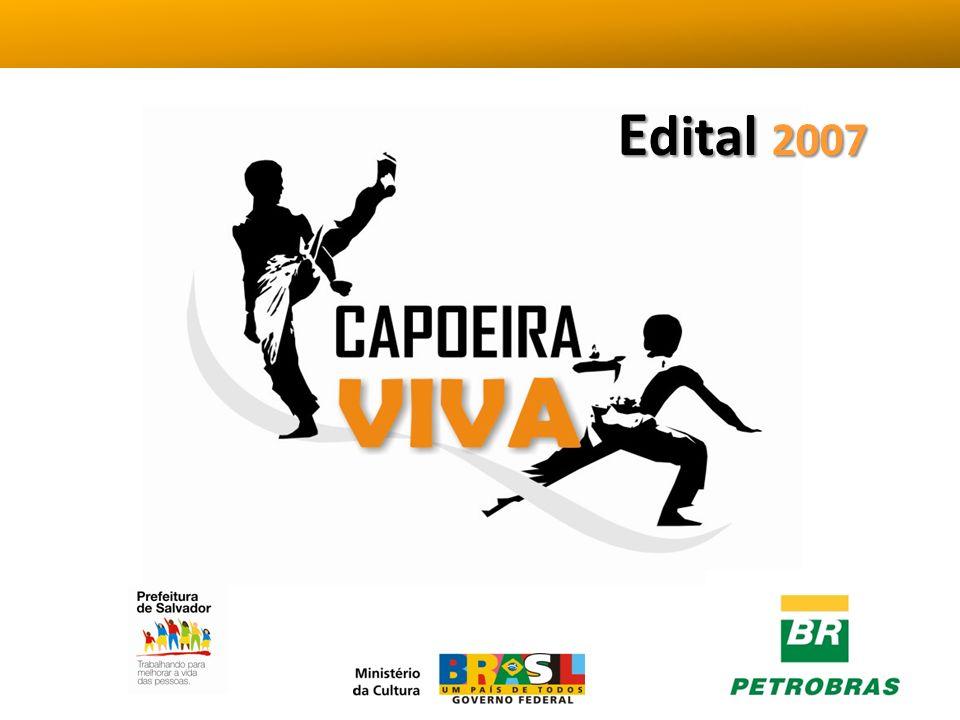 O projeto Capoeira Viva tem como objetivo fomentar políticas públicas para a valorização e promoção da capoeira como bem constituinte do patrimônio cultural brasileiro.