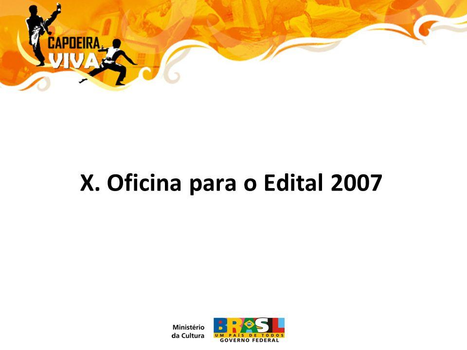 X. Oficina para o Edital 2007