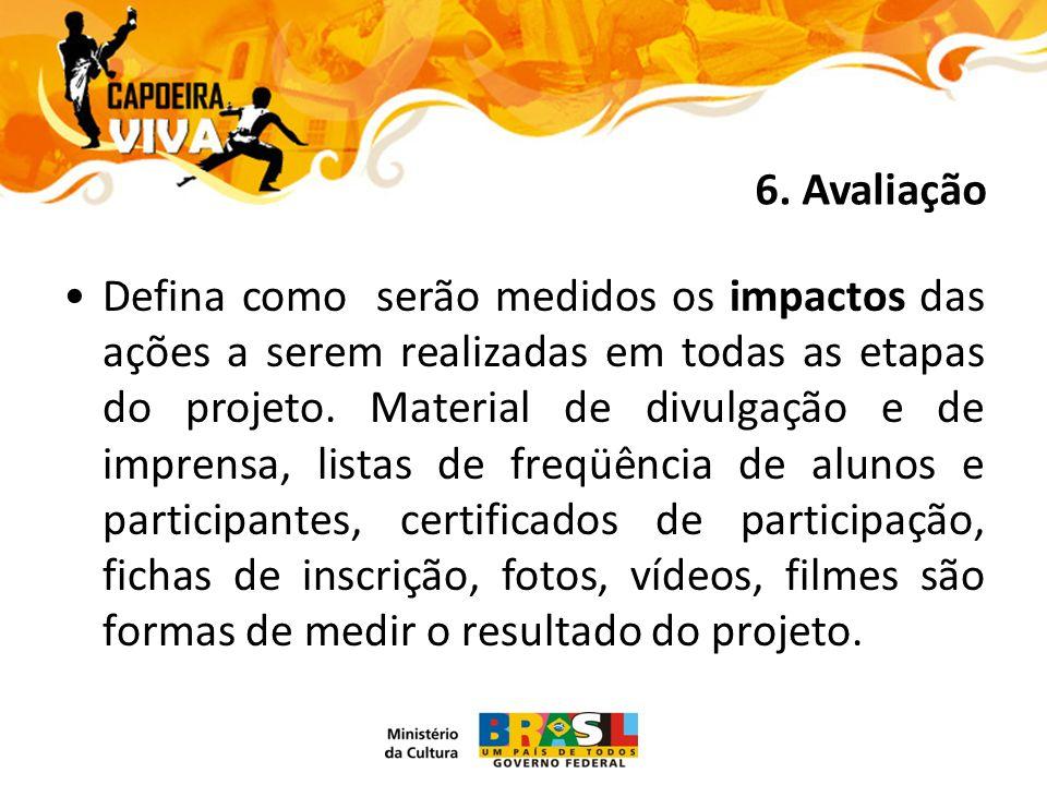 Defina como serão medidos os impactos das ações a serem realizadas em todas as etapas do projeto.